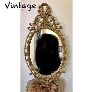 Vintage Resin Hollywood Regency Rococo Mirror